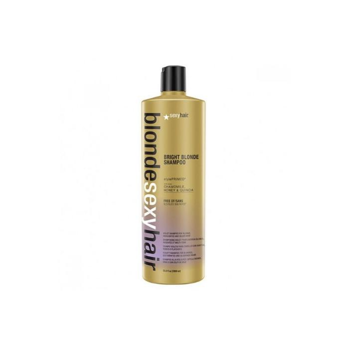 Купить Шампунь корректирующий для блонда Bright Blonde Shampoo - 1000мл, Sexy Hair (shop: Cosmall )