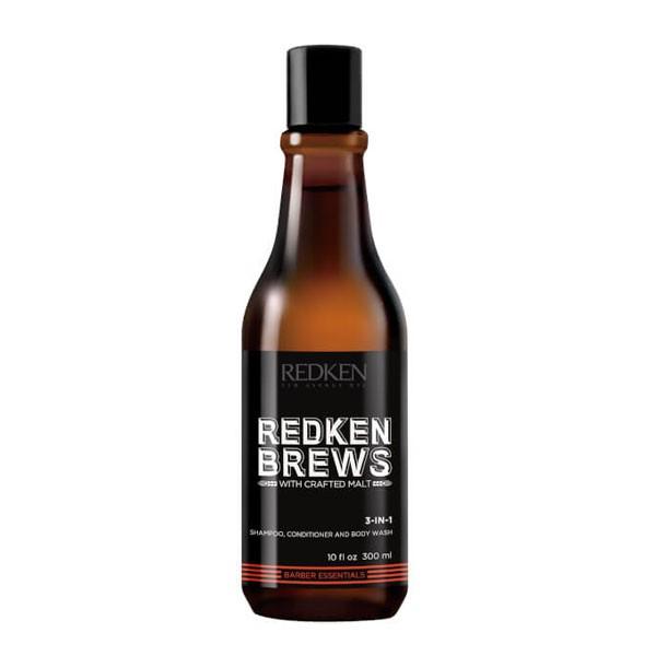 Шампунь Redken Brews 3-IN-1, 300мл фото