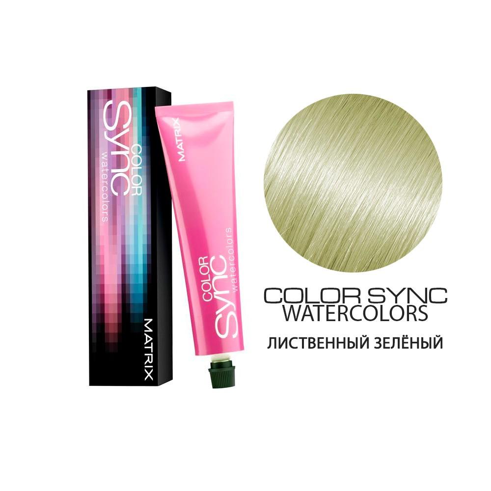Купить Краска Matrix Color Sync Watercolors - Лиственный зелёный (shop: Cosmall )